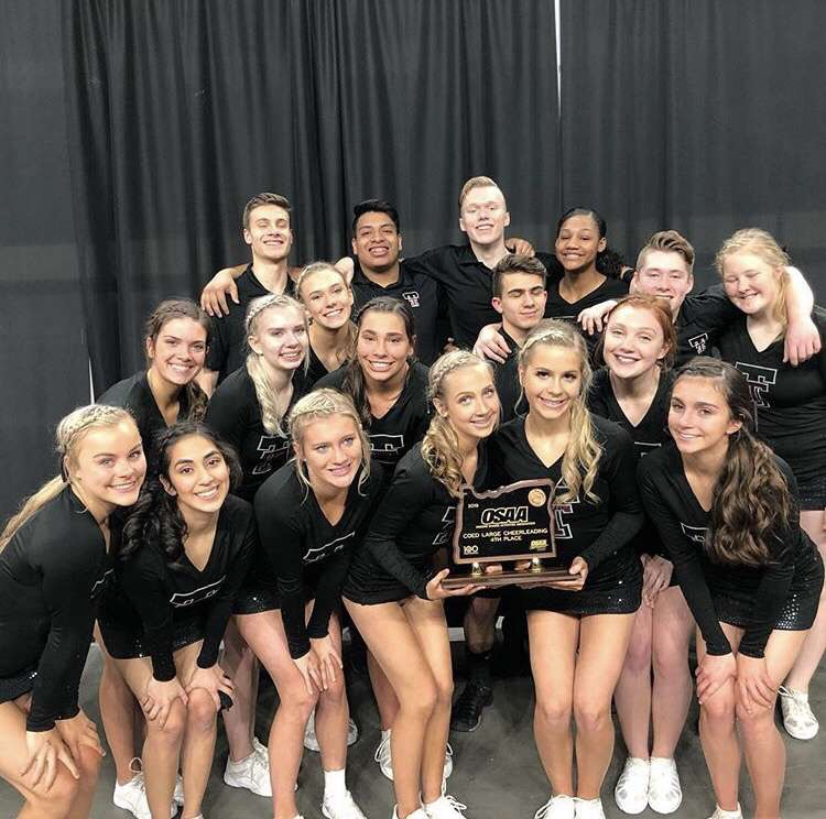 Cheer+team+appeared+at+the+state+competition+in+February.+The+Sideline+team+won+first+place.