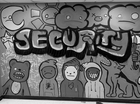 New mural brightens security office