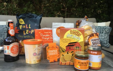 They arranged the fall food items to showcase their haul. This was minutes before they found their new fall favorites. Photo by Ava Bruce.