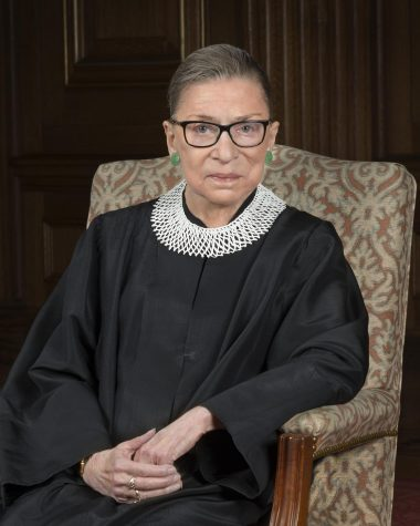 Justice Ruth Bader Ginsburg sits for her official Supreme Court portrait in 2016. Ginsburg was first appointed as Justice in 1933.