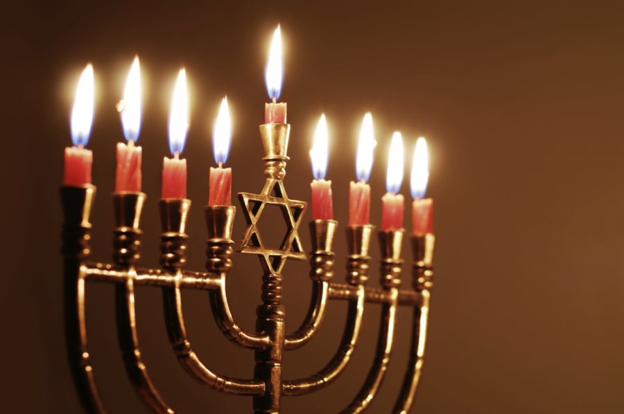 A menorah that will be used in the celebration of Hanukkah. It consists of nine candles, one for each day as well as the middle candle, the shamas, that will be lit every night and used to light the other candles. Photo courtesy of Time Magazine.